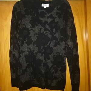Scalloped edge sweater